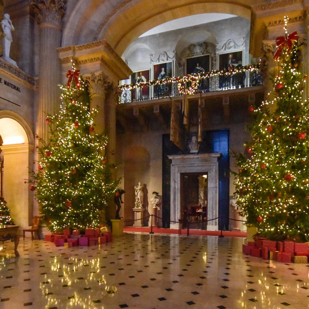 A Traditional Blenheim Christmas - Christmas trees in the Great Hall