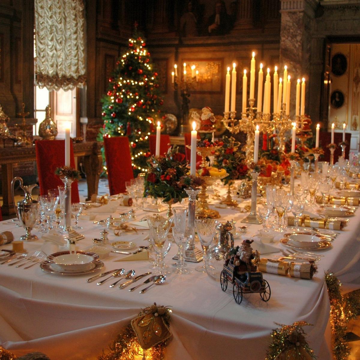 A Traditional Blenheim Christmas - Table dressed for Christmas