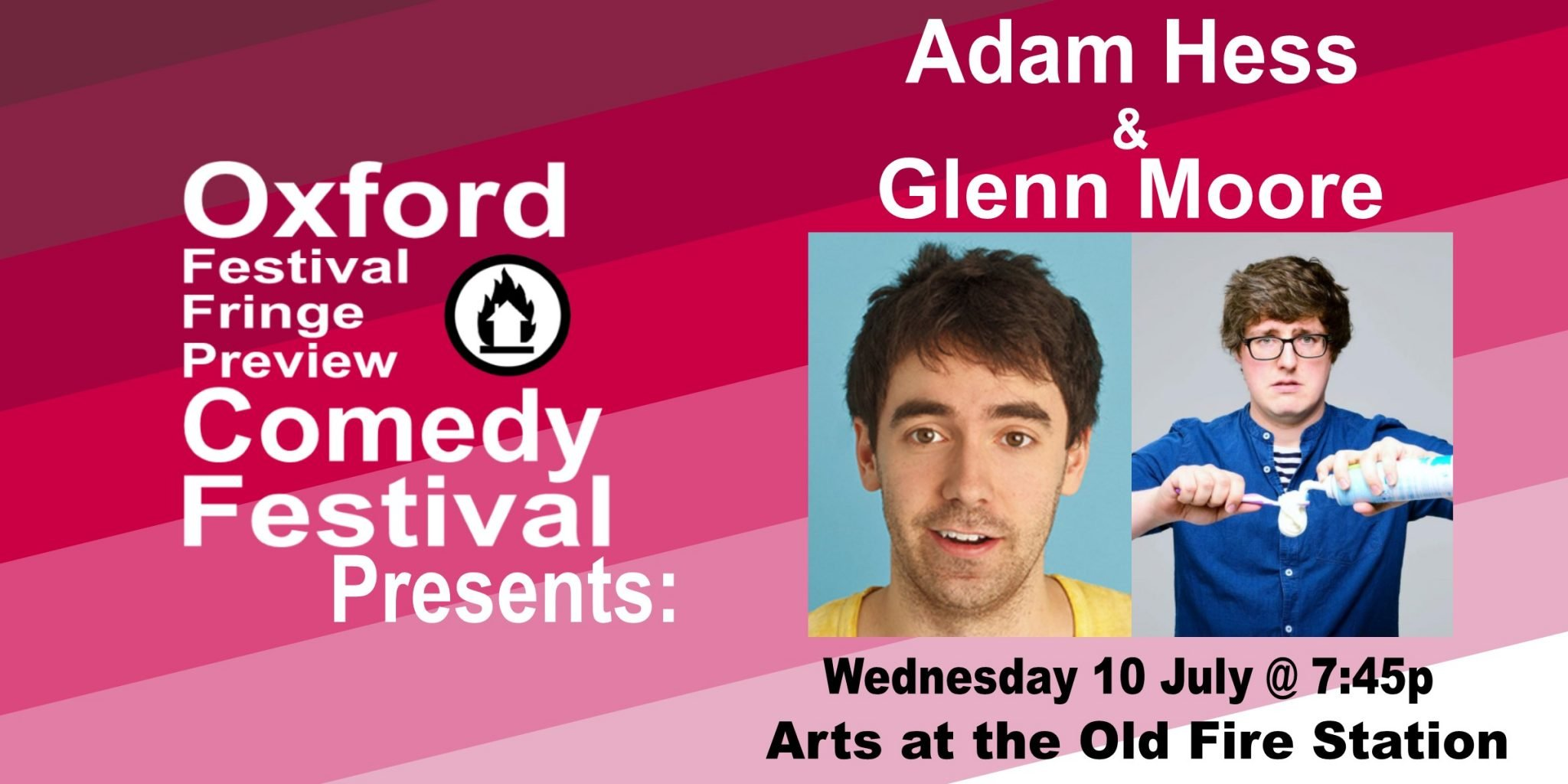 Oxford Comedy Festival 2019 presents Adam Hess and Glenn Moore