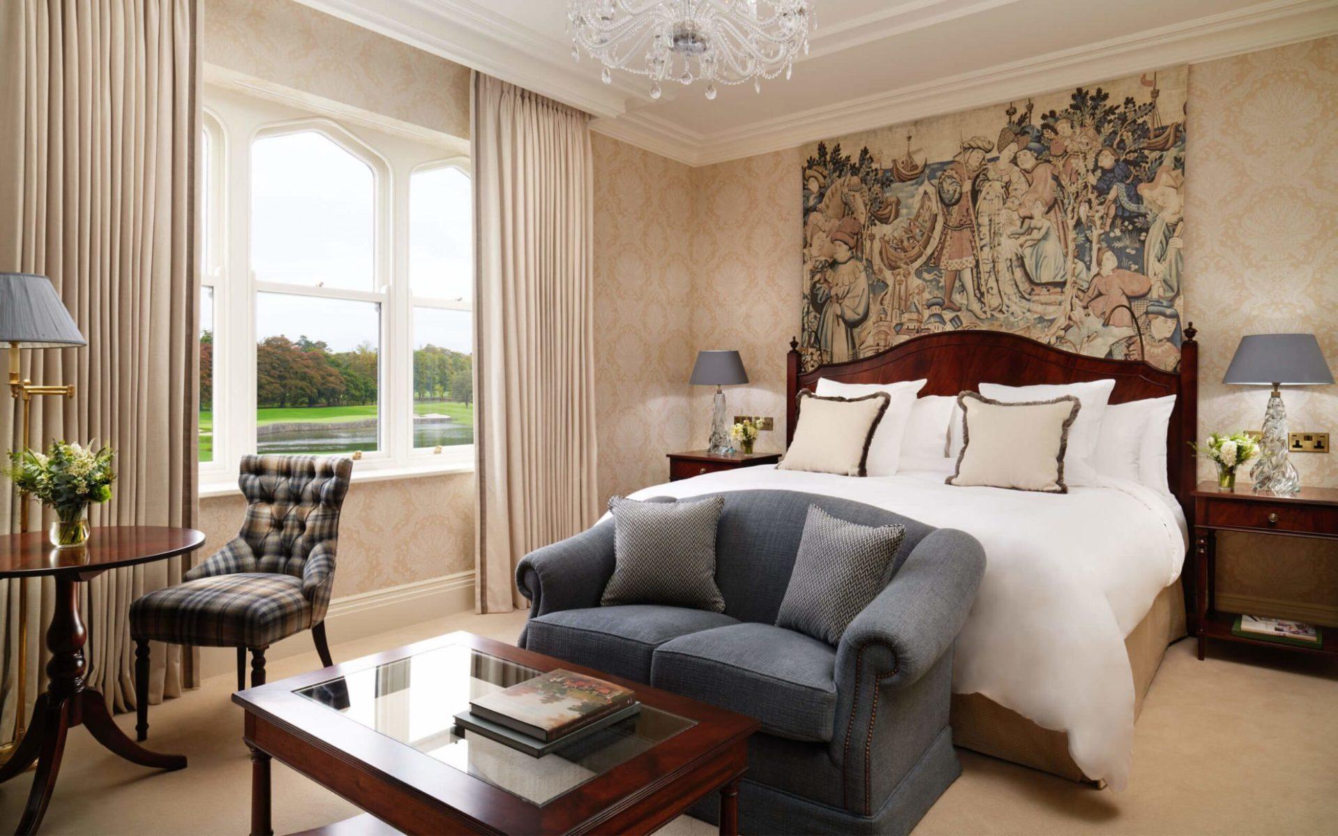 The Adare Manor Hotel Deluxe King Bedroom