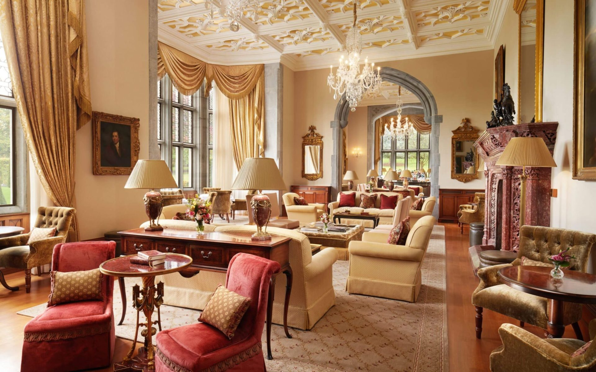 Adare Manor Hotel - The Drawing Room