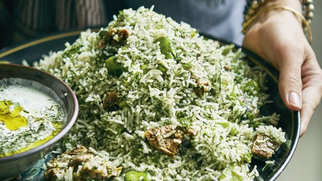 Ahlam Saeid's Green Rice Recipe