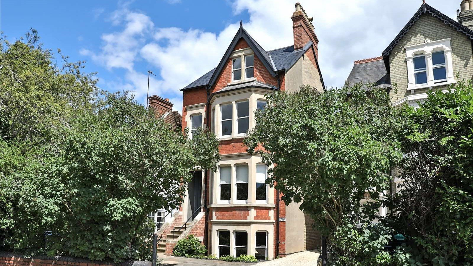 An elegantly-proportioned Victorian house on Woodstock Road in Oxford