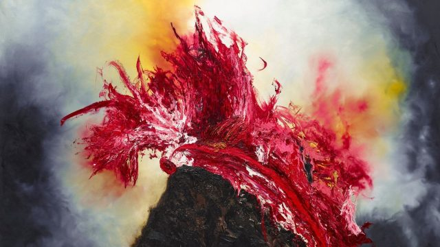 Anish Kapoor - The world trembles when I retrieve from my ancient past what I need to live in the depths of myself 13 November 2020, oil on canvas, 244 x 305 x 20cm Cropped