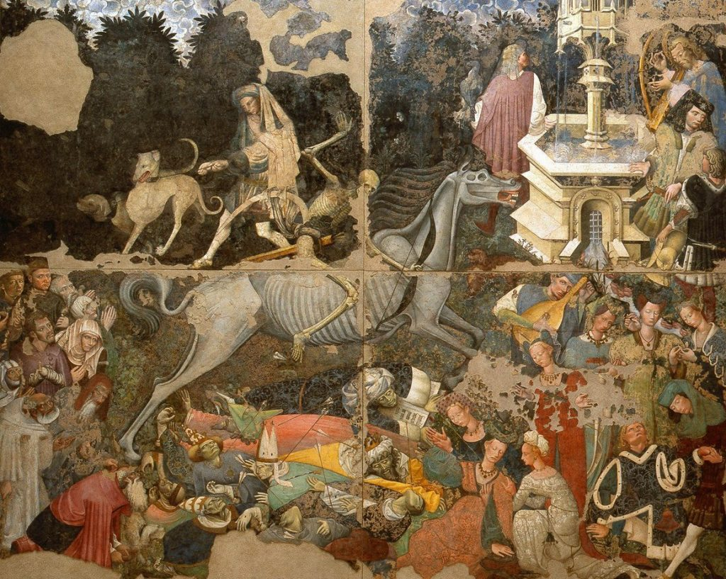 Anonymous, The Triumph of Death, circa 1446, fresco, 442 x 600cm, Palazzo Abatellis, Palermo, Sicily, Italy