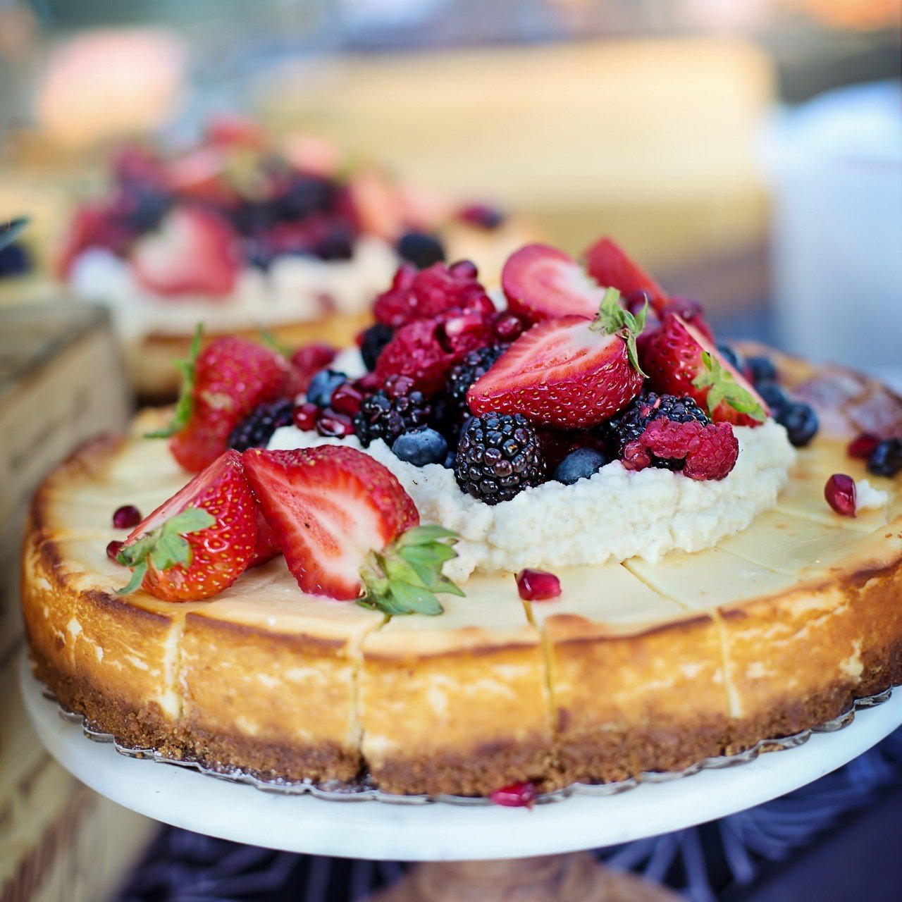 Baked Cheesecake with Summer Fruits Recipe