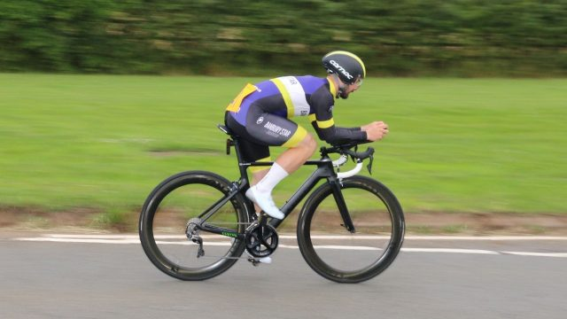 History of Banbury Star Cyclists' Club. Image shows Luke Norris leading the way on the restart TT.