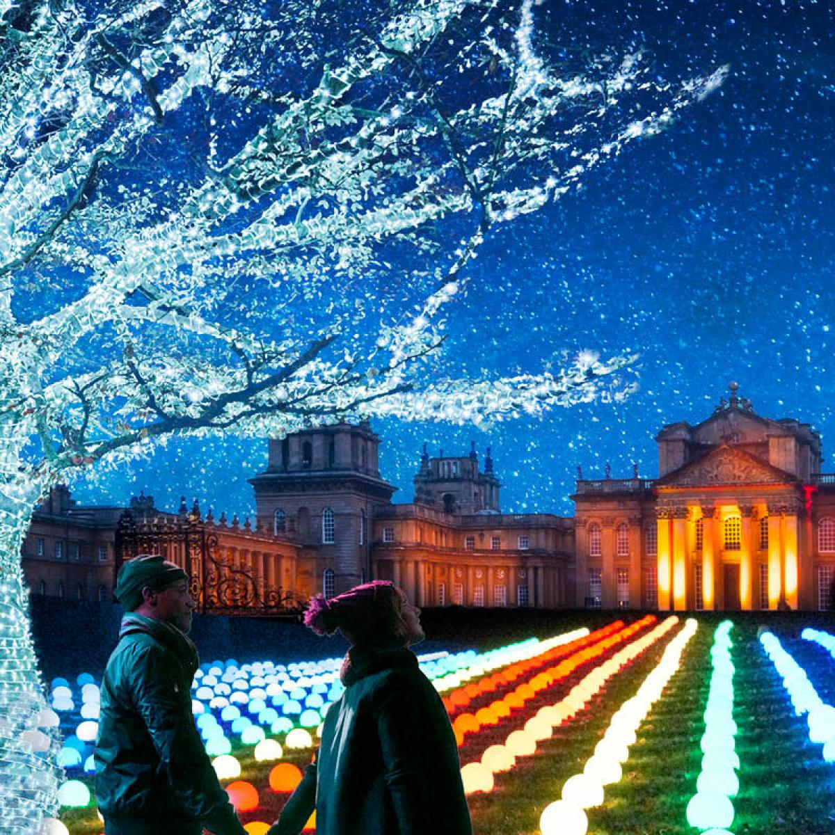 Chirstmas at Blenheim Palace - Light Trail