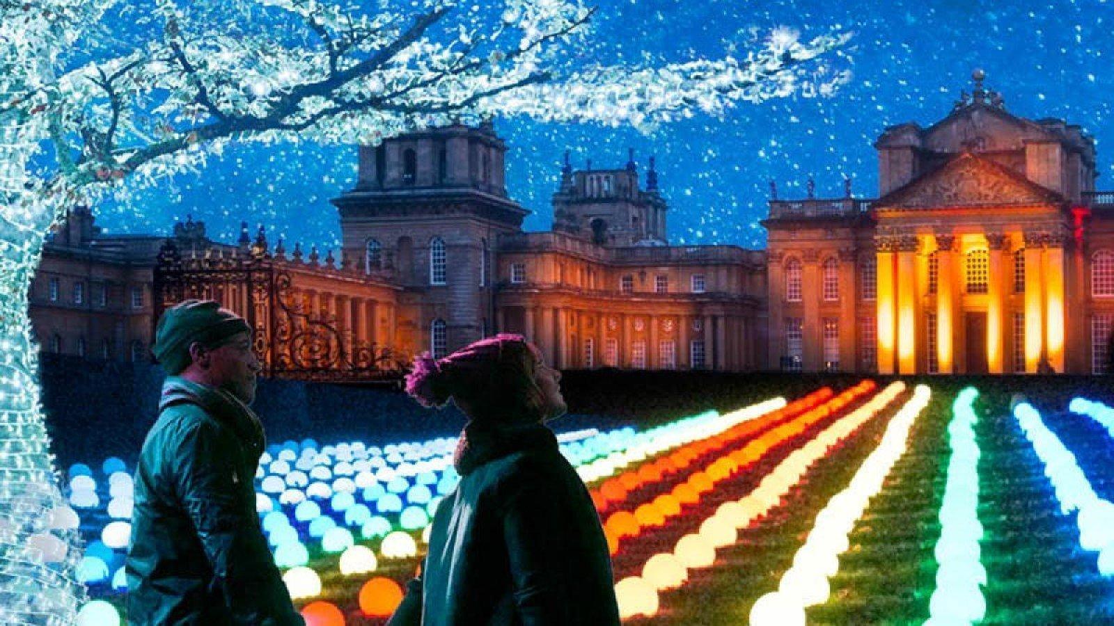 Blenheim Palace Illuminated Light Trail 2020