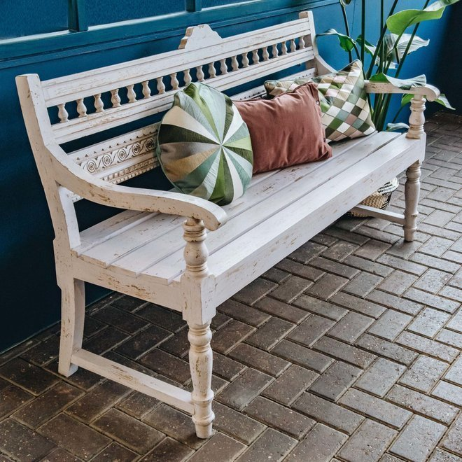 Bobbin Indian Mango Wood Bench