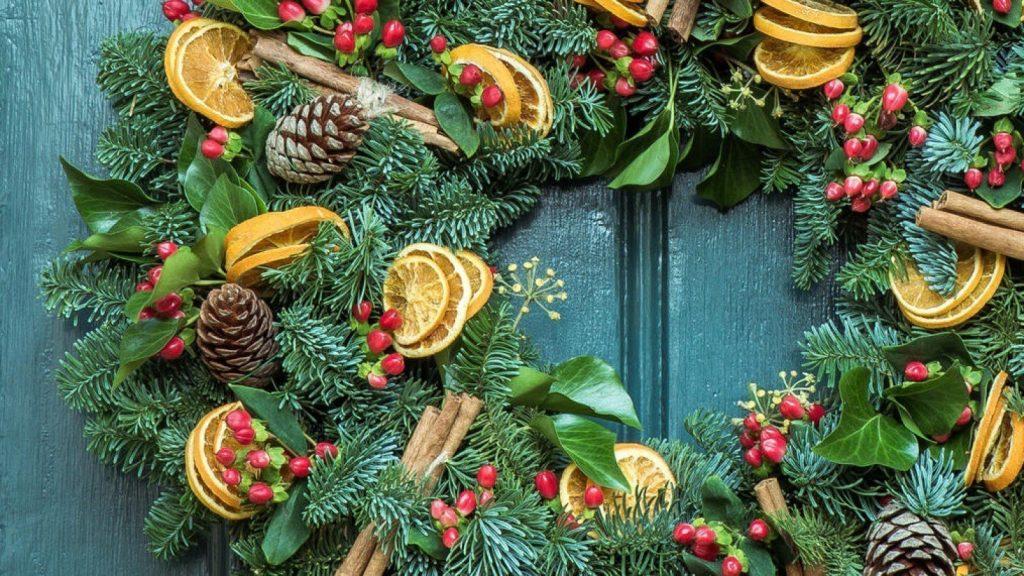 Botanical Christmas Wreath Making at Oxford Botanic Gardens