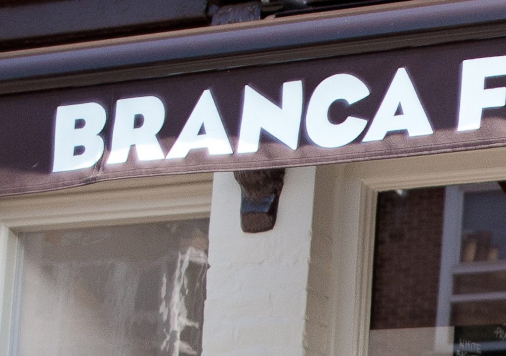 Branca Restaurant and Brasserie, Jericho, Oxford - Signage