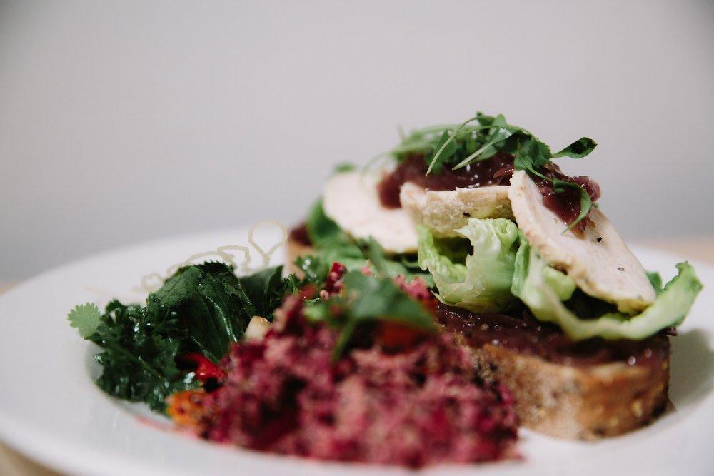 Brick Cafe Bar @ Modern Art Oxford - Chicken On Onion Relish