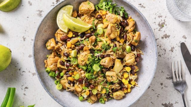 Caribbean Chicken with Rice and Black Beans Recipe