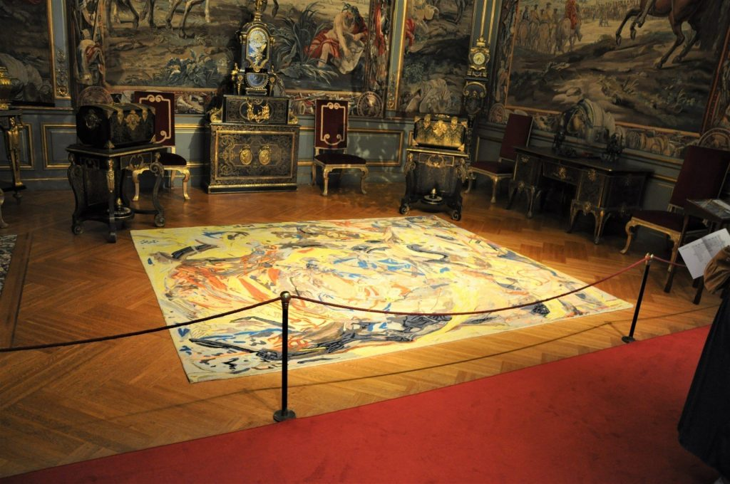 Cecily Brown, Armorial Memento, Floored, 2020, handwoven wool, 330 x 275cm
