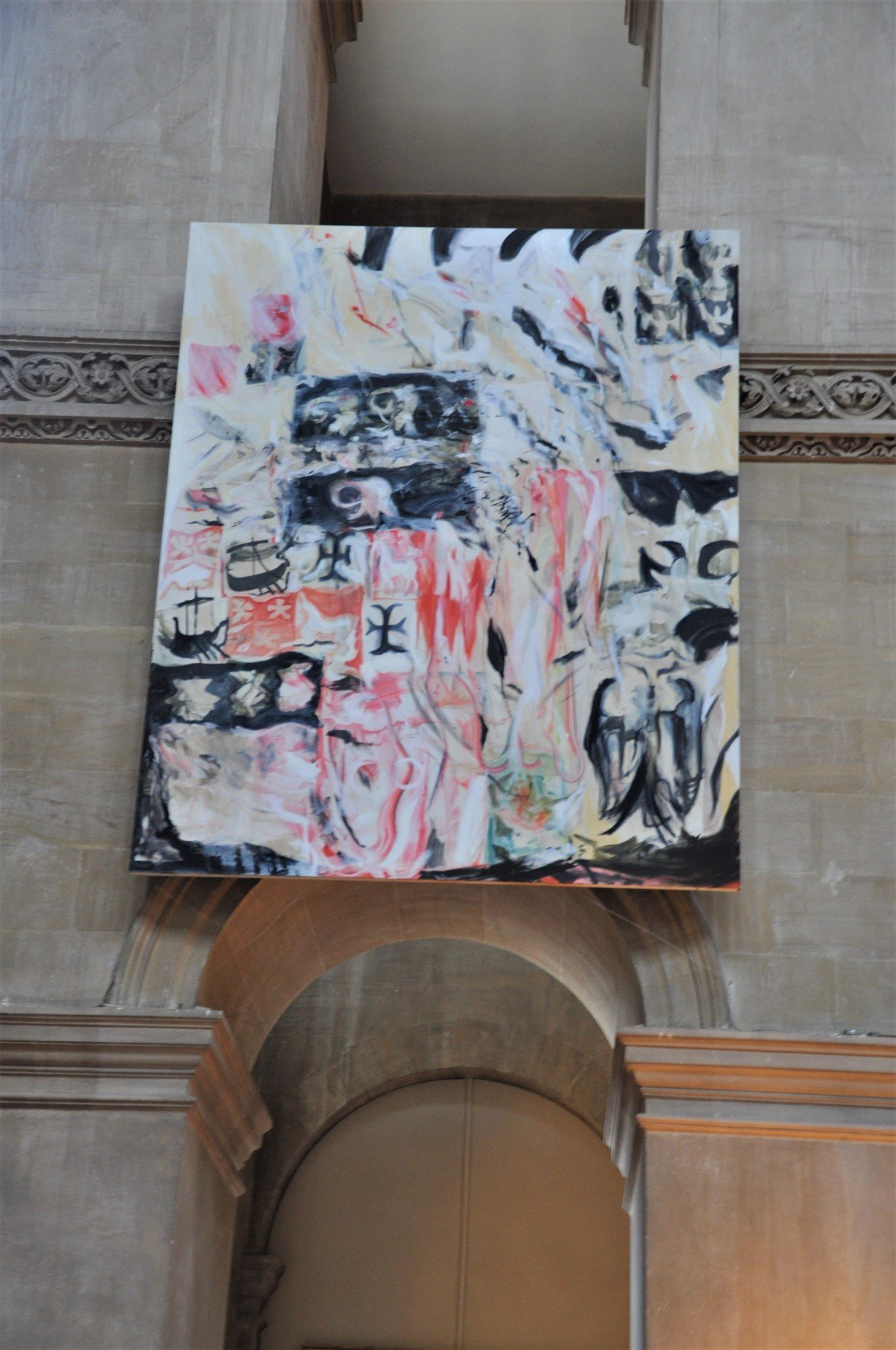 Cecily Brown, Armorial Memorial, 2019, oil on linen, 307.3 x 246.4cm