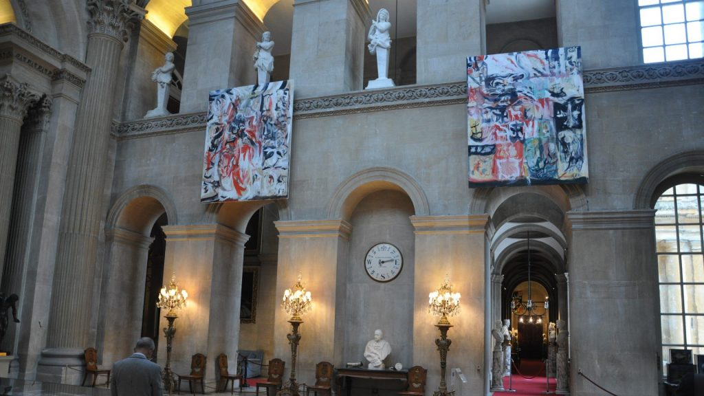 Cecily Brown at Blenheim Palace with British heritage and aristocracy as a subject