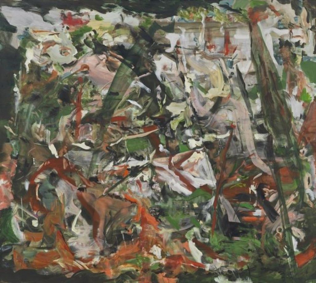 Cecily Brown, There'll always be an England (detail), oil on linen, 119.4 x 134.6cm.