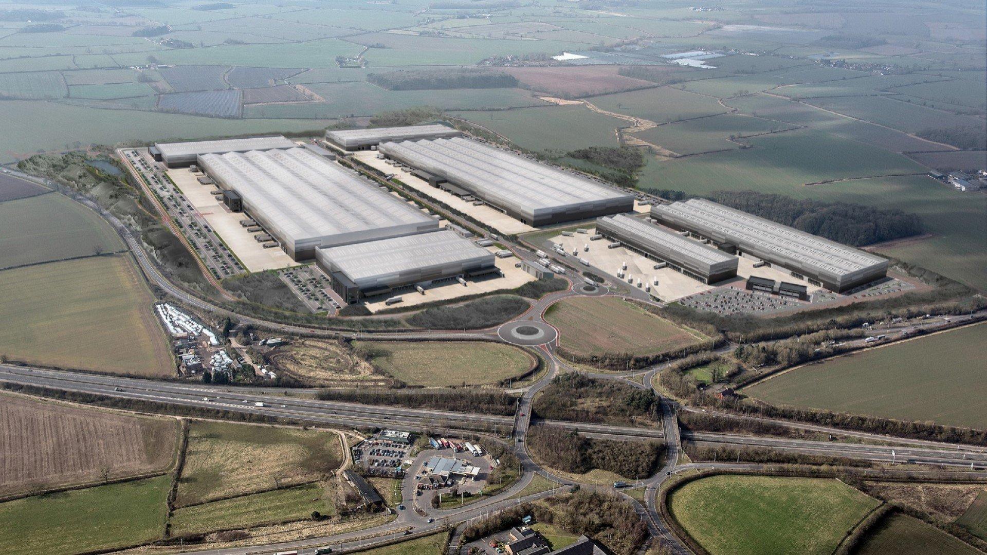 Unipart wins five-year Jaguar Land Rover contract. CGI of the new Jaguar Land Rover Global Parts Logistics Centre
