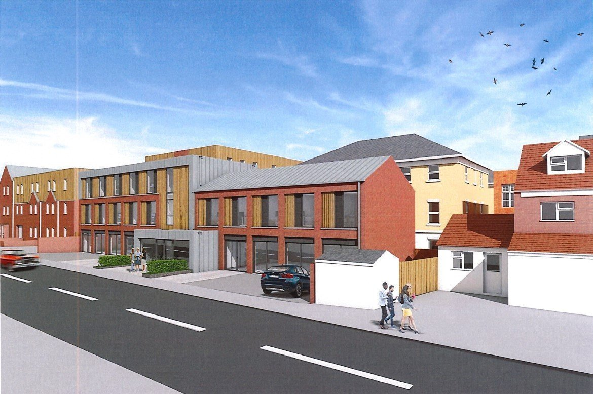 CGI of proposed redevelopment of Canterbury Works just off Oxford's Cowley Road.
