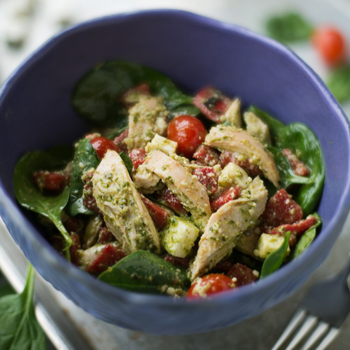 Grilled Chicken Pesto Salad Recipe