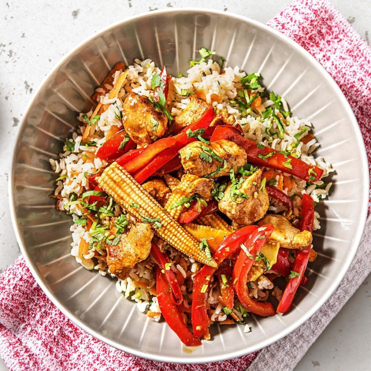 Chinese Five-Spice Chicken Stir-Fry with Brown Rice Recipe
