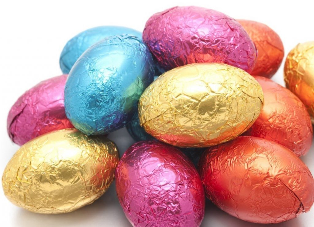 Foil-covered Chocolate Eggs