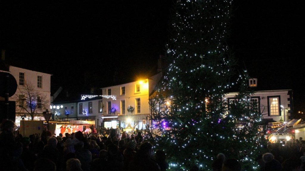 Christmas Lights On Festive Faringdon