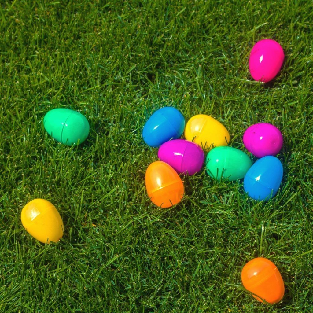 Colourful Fillable Plastic Easter Eggs