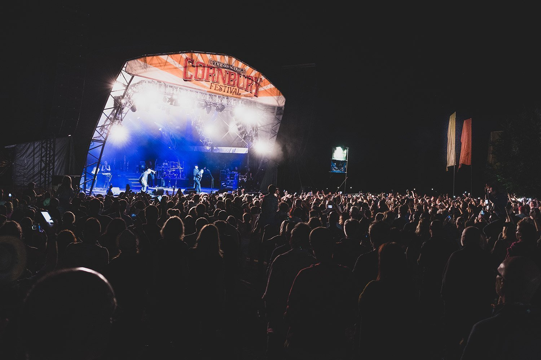 Cornbury Music Festival Stage at Night