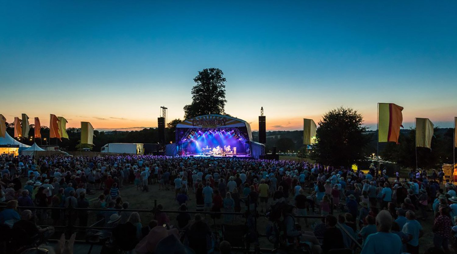 Cornbury Music Festival Stage at Early Evening