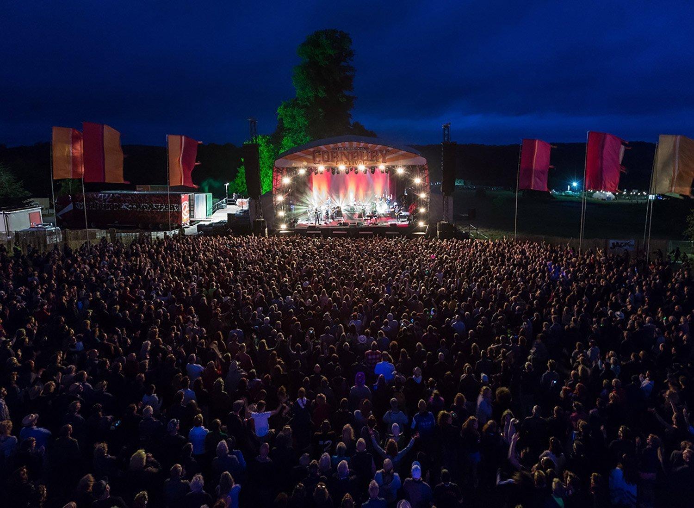 Cornbury Music Festival Stage at Late Evening