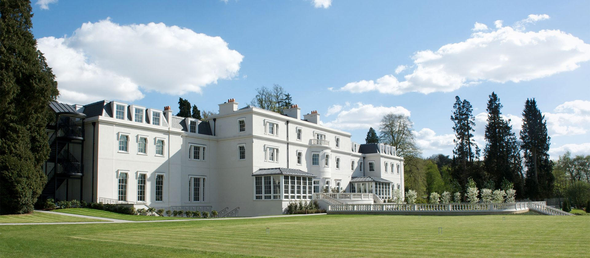 Coworth Park Exterior View and Croquet Lawn