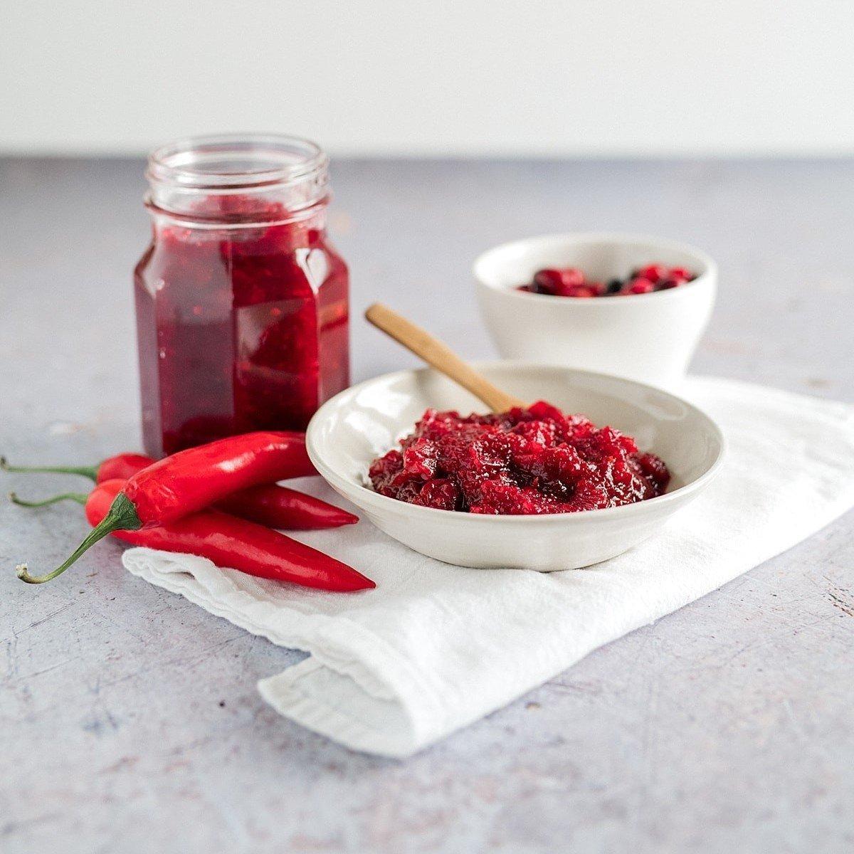 Cranberry, Apple and Chilli Jam Recipe