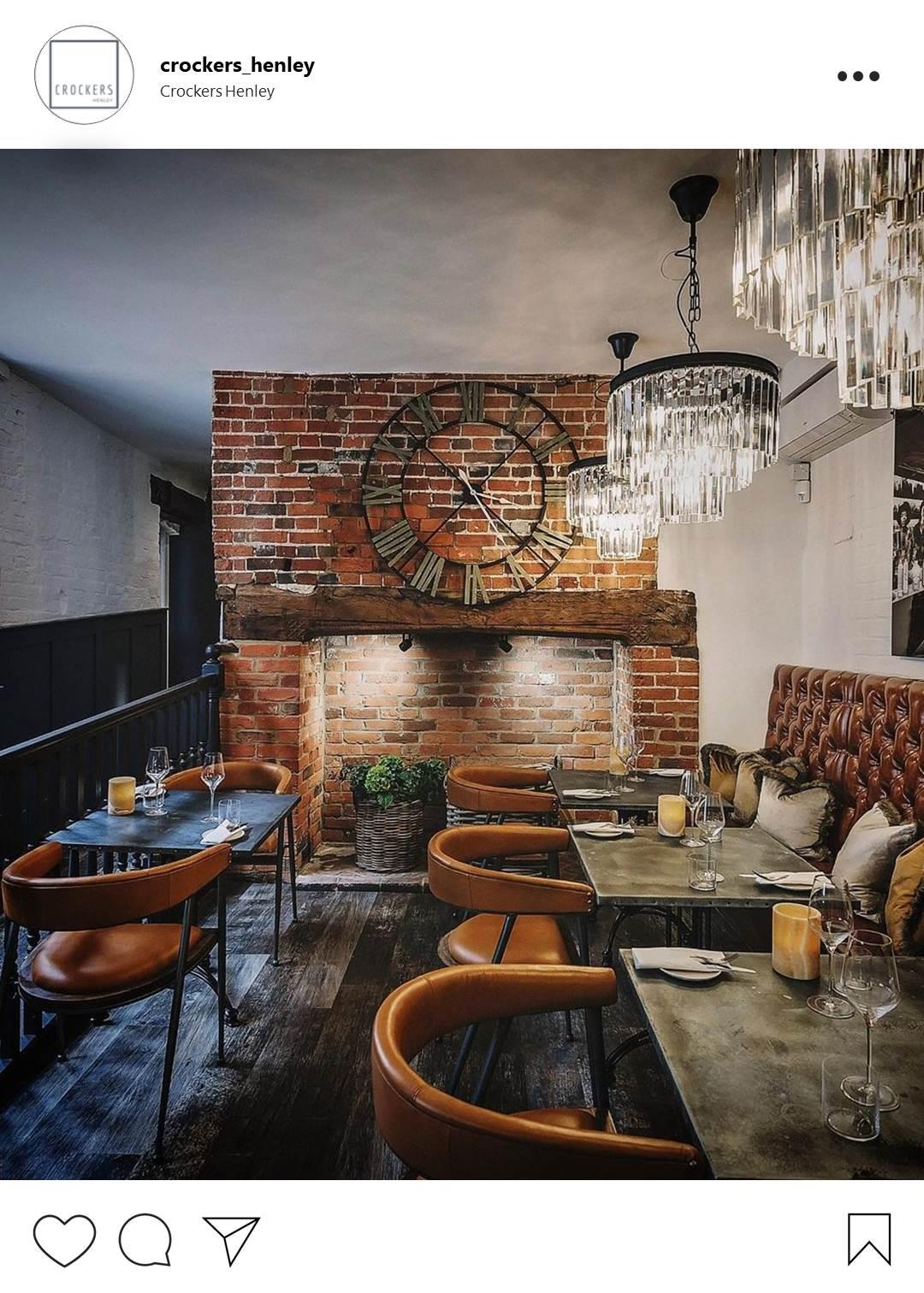 Instaworthy restaurants in Oxfordshire - Crockers, Henley-on-Thames