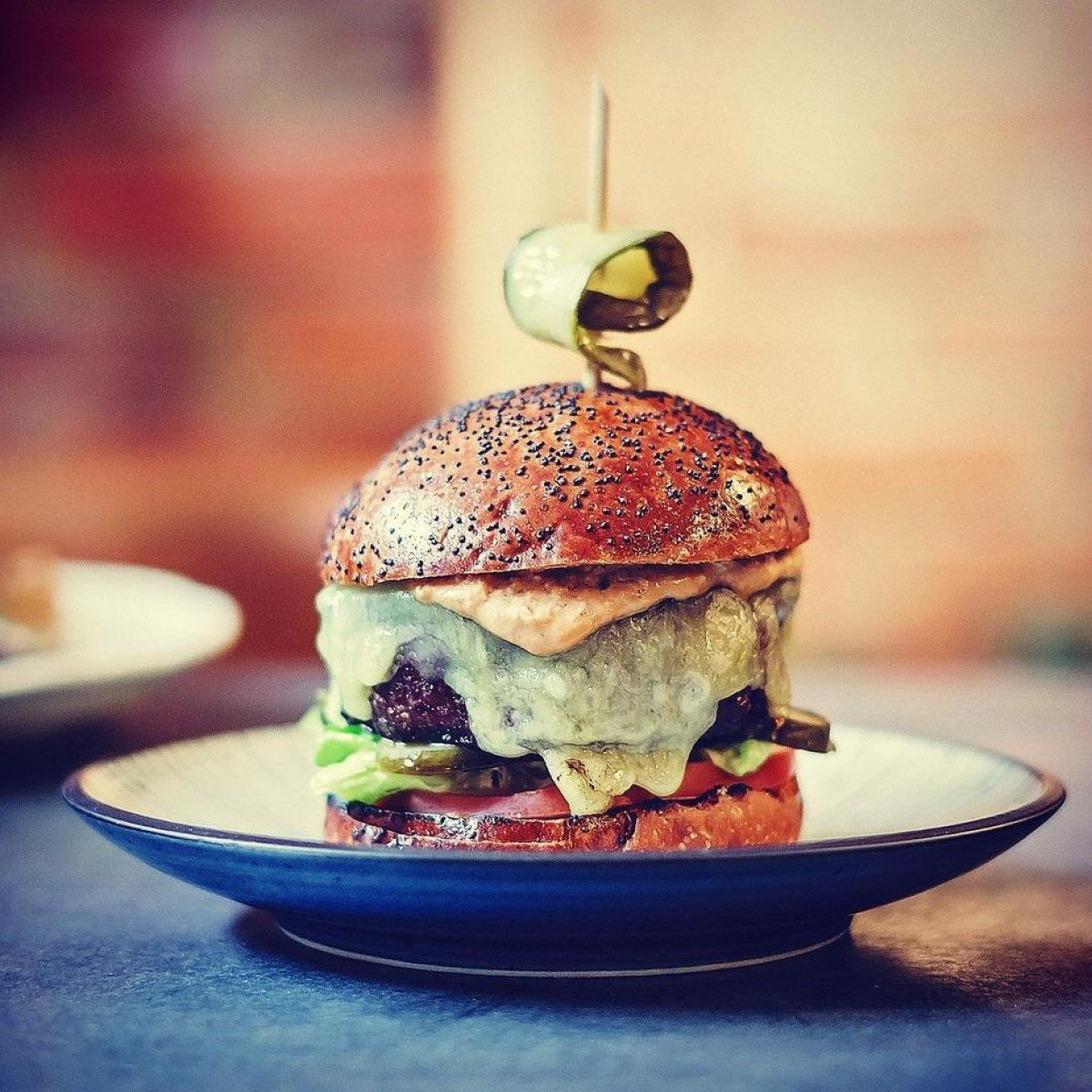 The Crockers Burger from The Charcol Grill at Crockers Henley