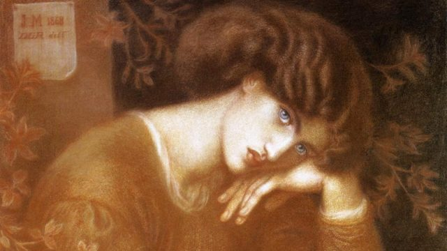 The Pre-Raphaelites exhibition at the Ashmolean - Dante Gabriel Rossetti, Reverie, 1868, Chalk Drawing, 84 x 71cm