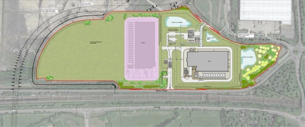 Proposed layout of the two data centres on the Didcot Power Station site in Oxfordshire