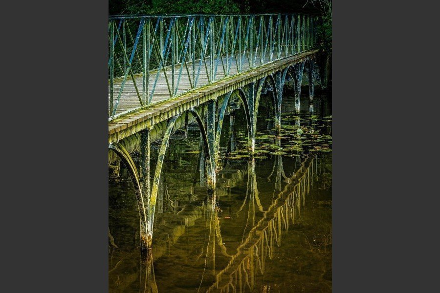 """Footbridge Reflections"" by Elaine Cox"