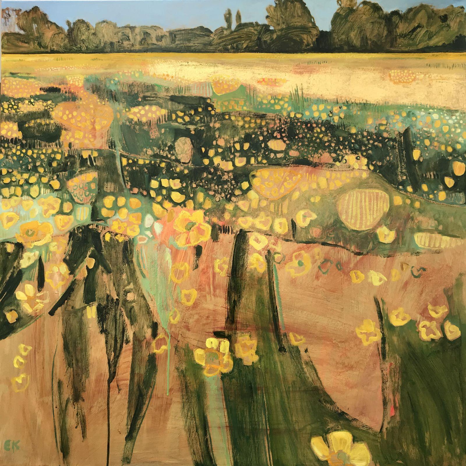 Elaine Kazimierczuk: Re-Fresh - Golden Buttercups down Binsey Lane