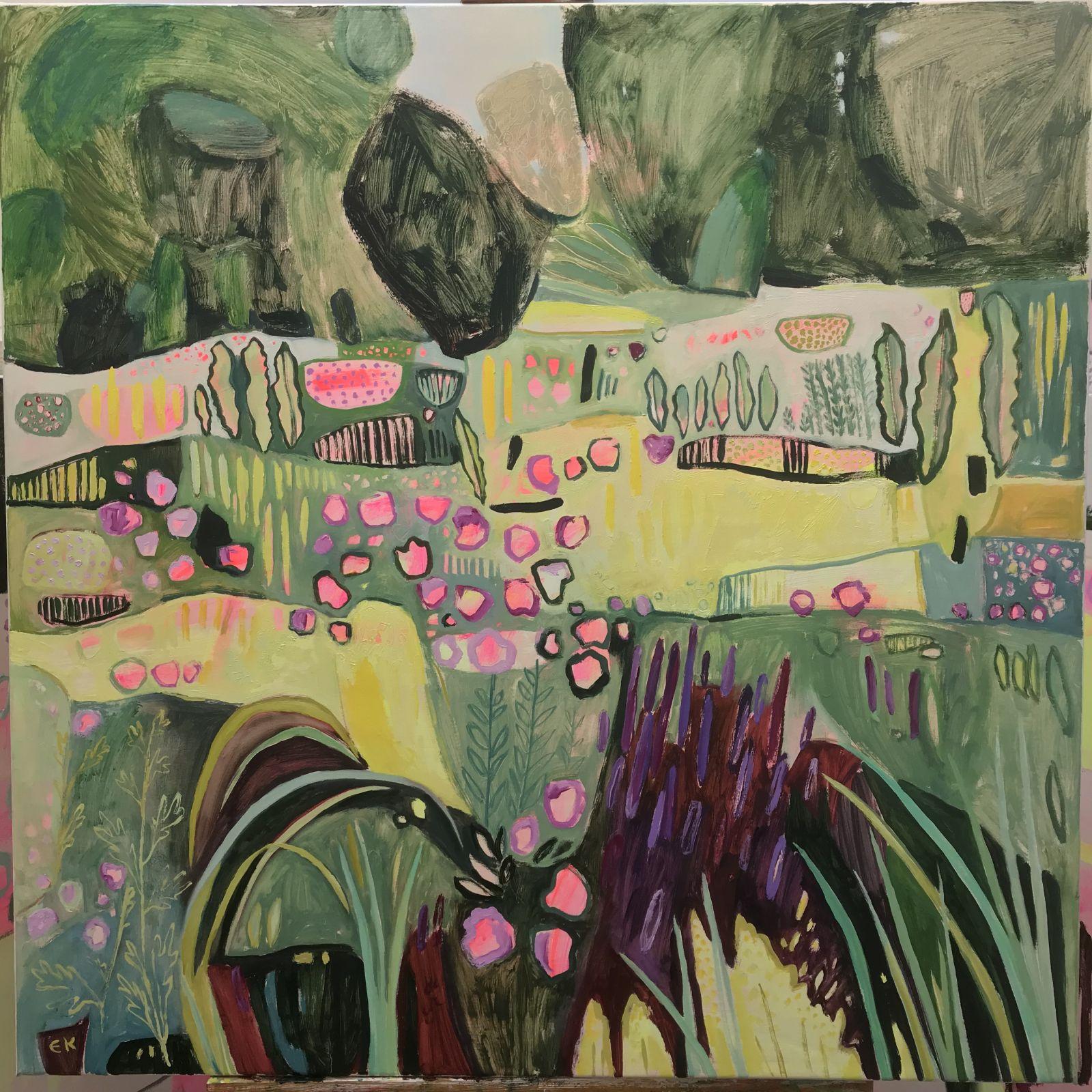 Elaine Kazimierczuk: Re-Fresh - Pink, Yellow, Purple in the Merton Beds