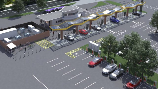 Works to power UK's largest public electric vehicle charging hub set to begin