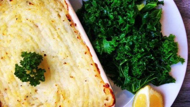 Fish Pie with Celeriac Mash & Kale Recipe