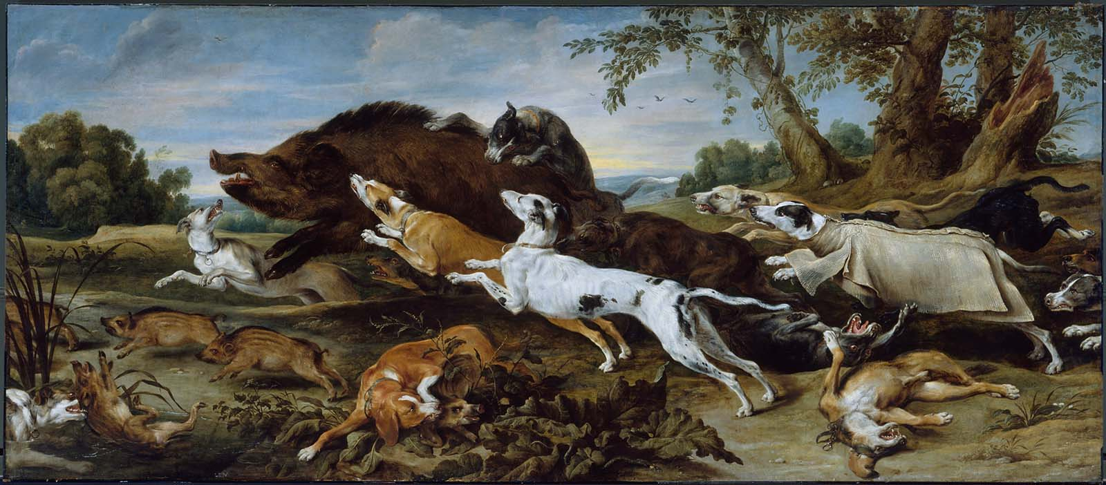 Frans Snyders' Boar Hunt - Museum of Fine Arts, Boston