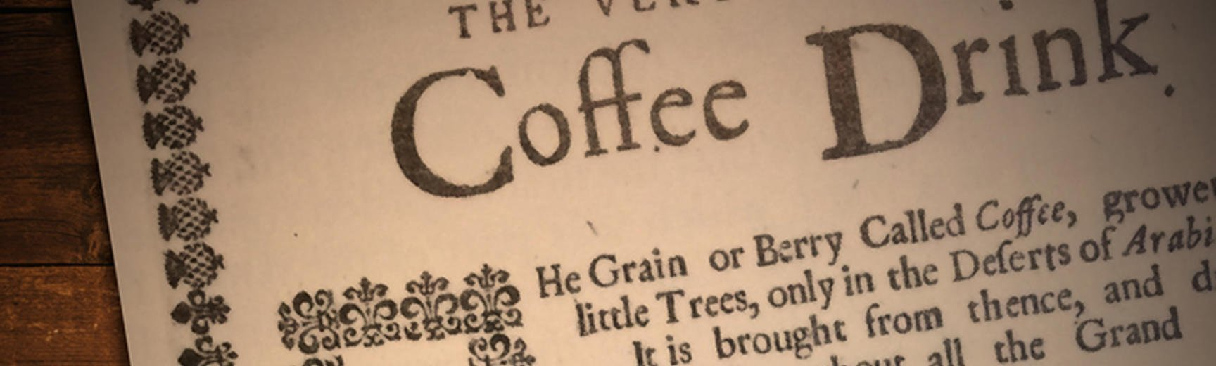From Istanbul to Oxford - The Origins of Coffee Drinking in England - A free display at The Ashmolean Museum