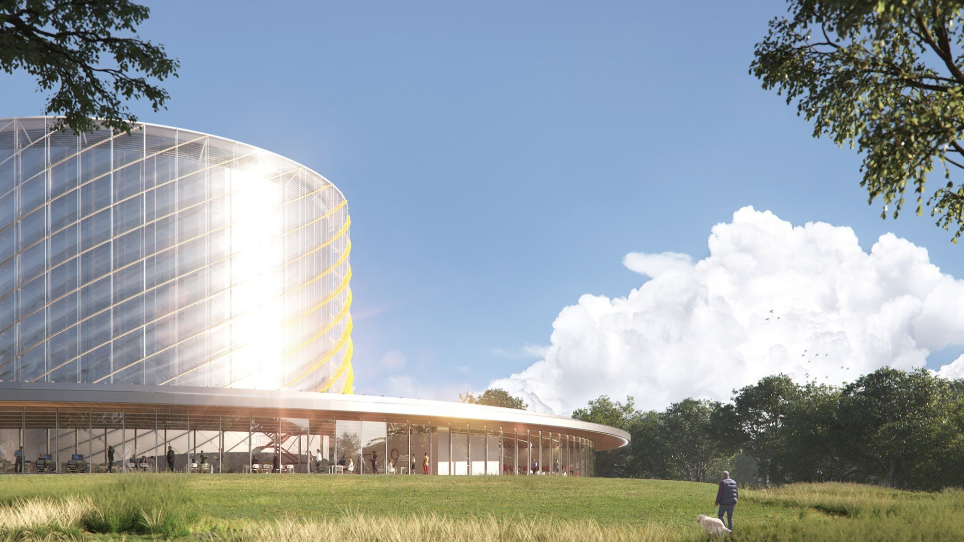 Canadian General Fusion to build its Fusion Demonstration Plant at Culham Science Centre. Image: Artist's Impression of the General Fusion building