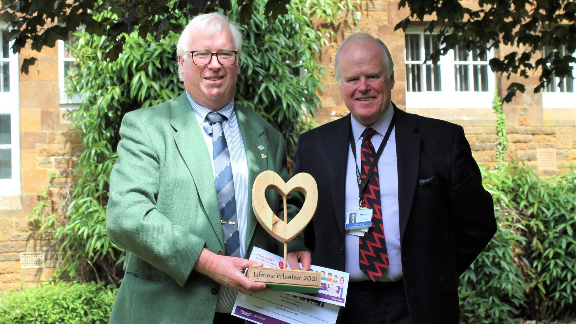 Volunteers recognised for outstanding contribution in Cherwell. Image: George Dumbleton with Cllr McHugh