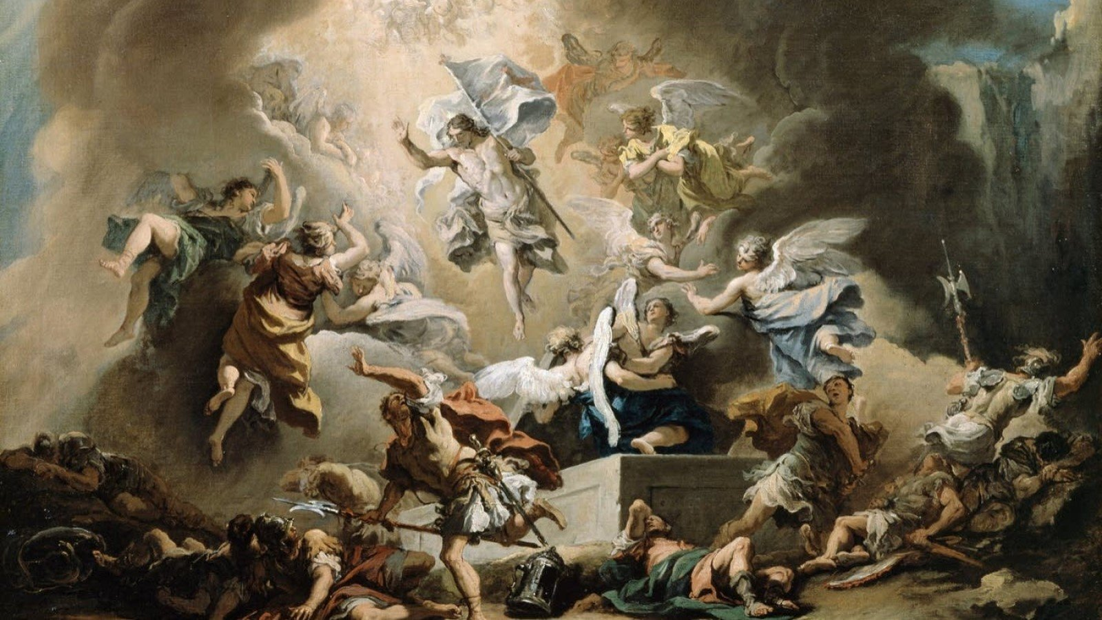 Handel Messiah with the Academy of Ancient Music. Image: The Resurrection by Sebastiano Ricci