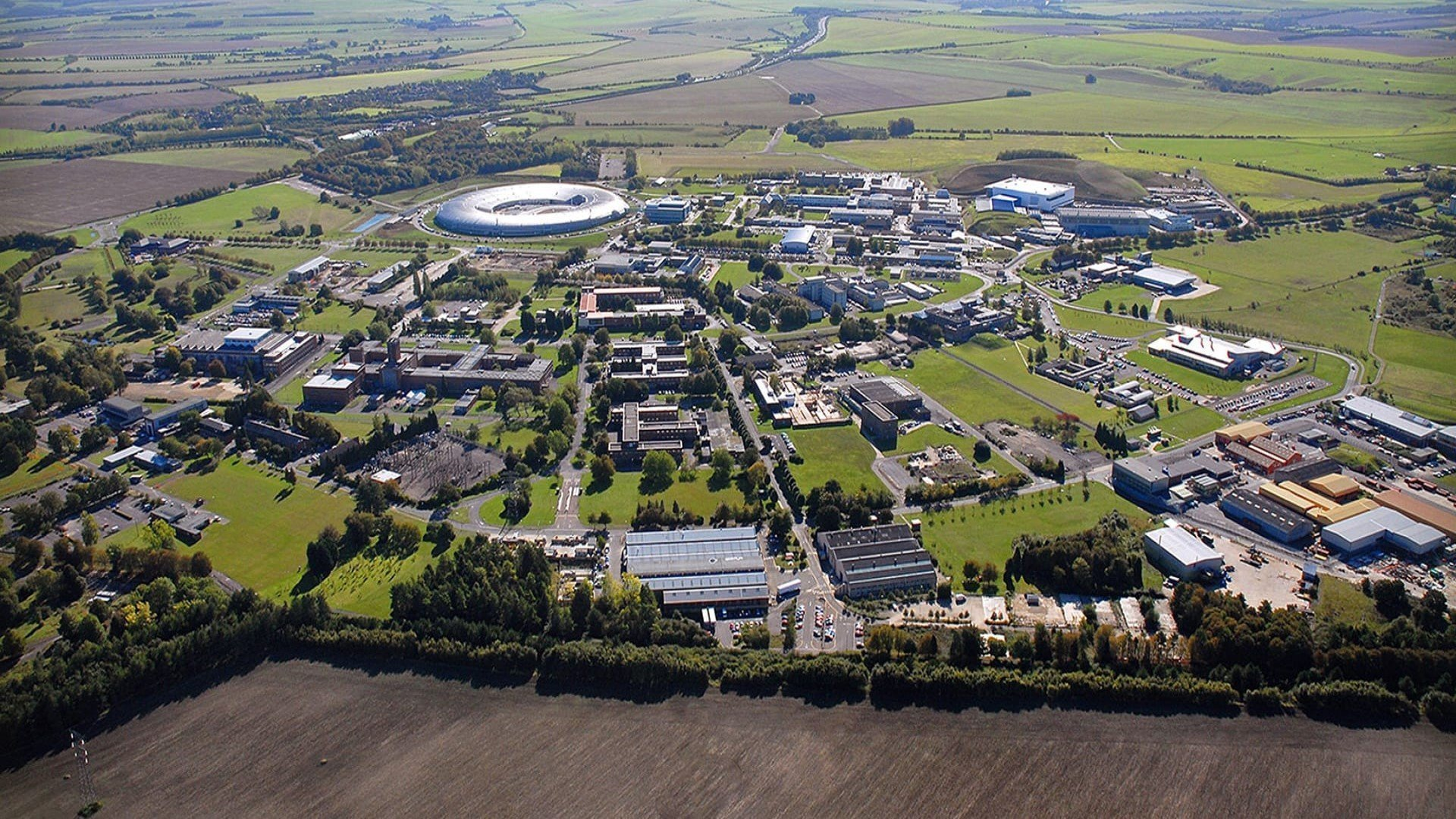 Aerial view of Harwell Campus in Oxfordshire