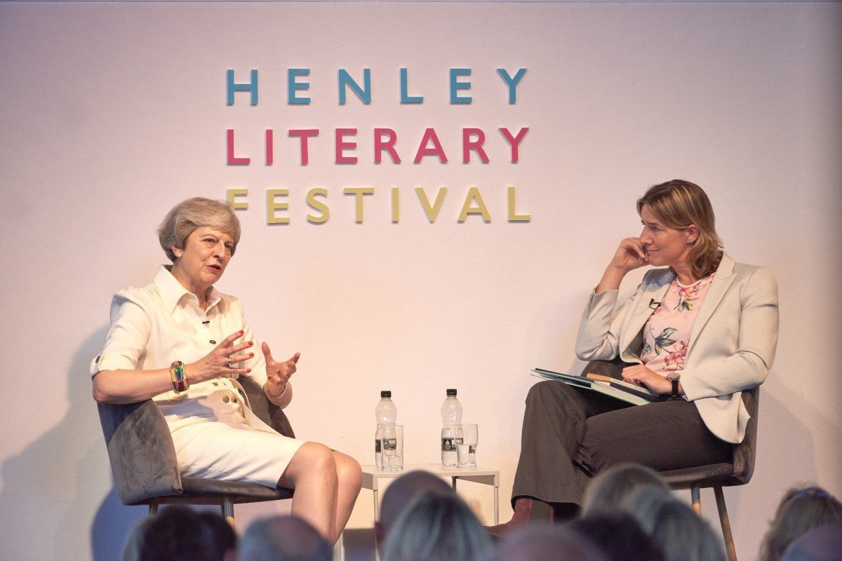 Henley Literary Festival Gallery Image 11 - Theresa May inteviewed by Katherine Grainger